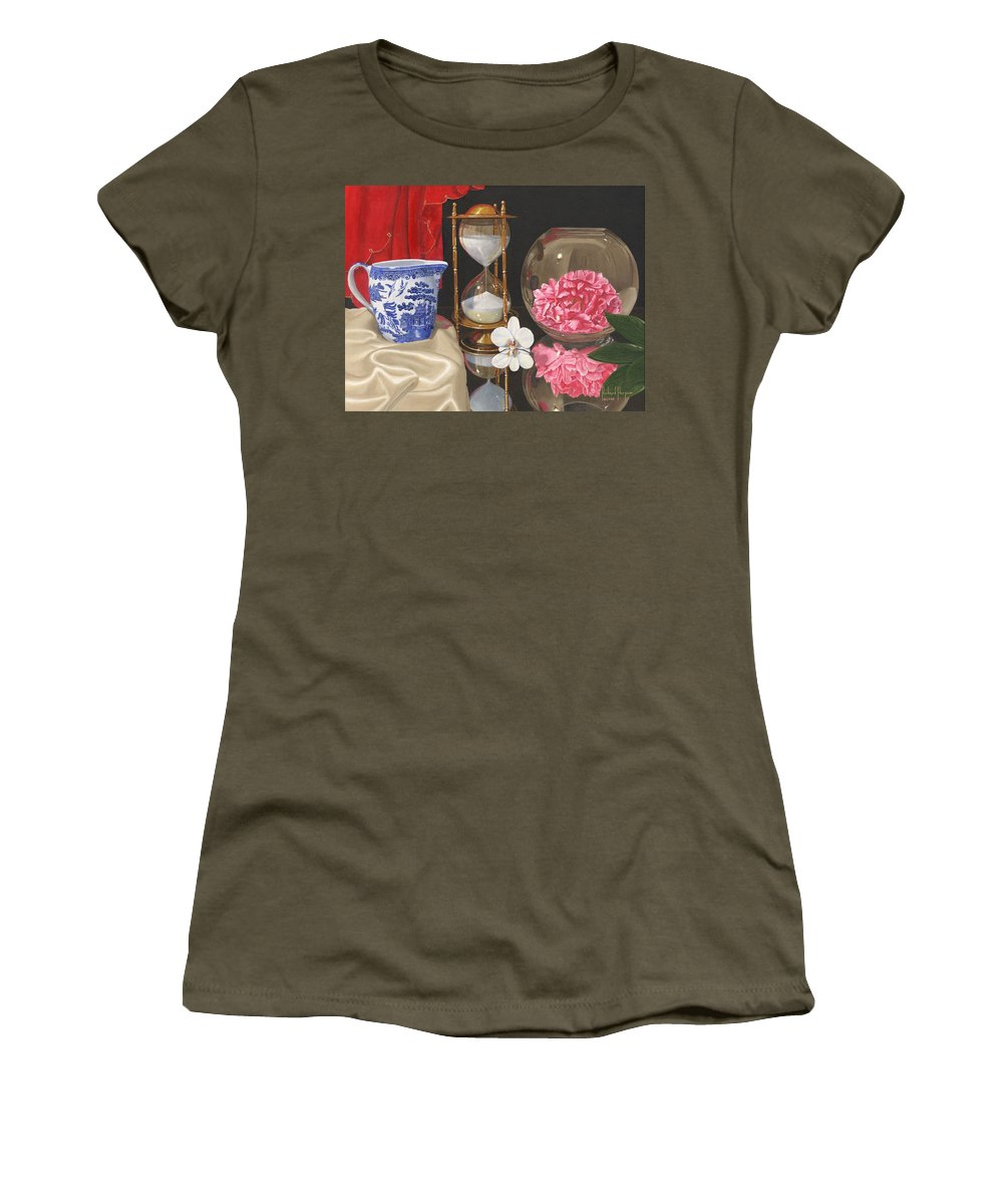 Still Life Women's T-Shirt featuring the painting Reflections by Richard Harpum