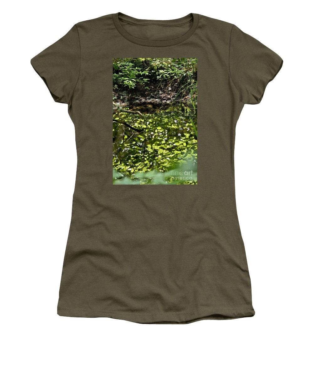 Landscape Women's T-Shirt featuring the photograph Reflective by Cheryl Baxter