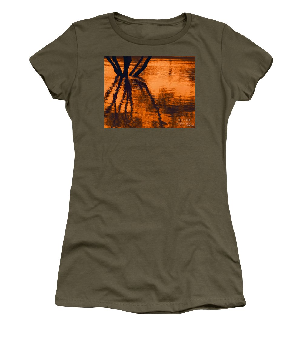 Water Women's T-Shirt featuring the photograph Reflectivity by Heather Kirk