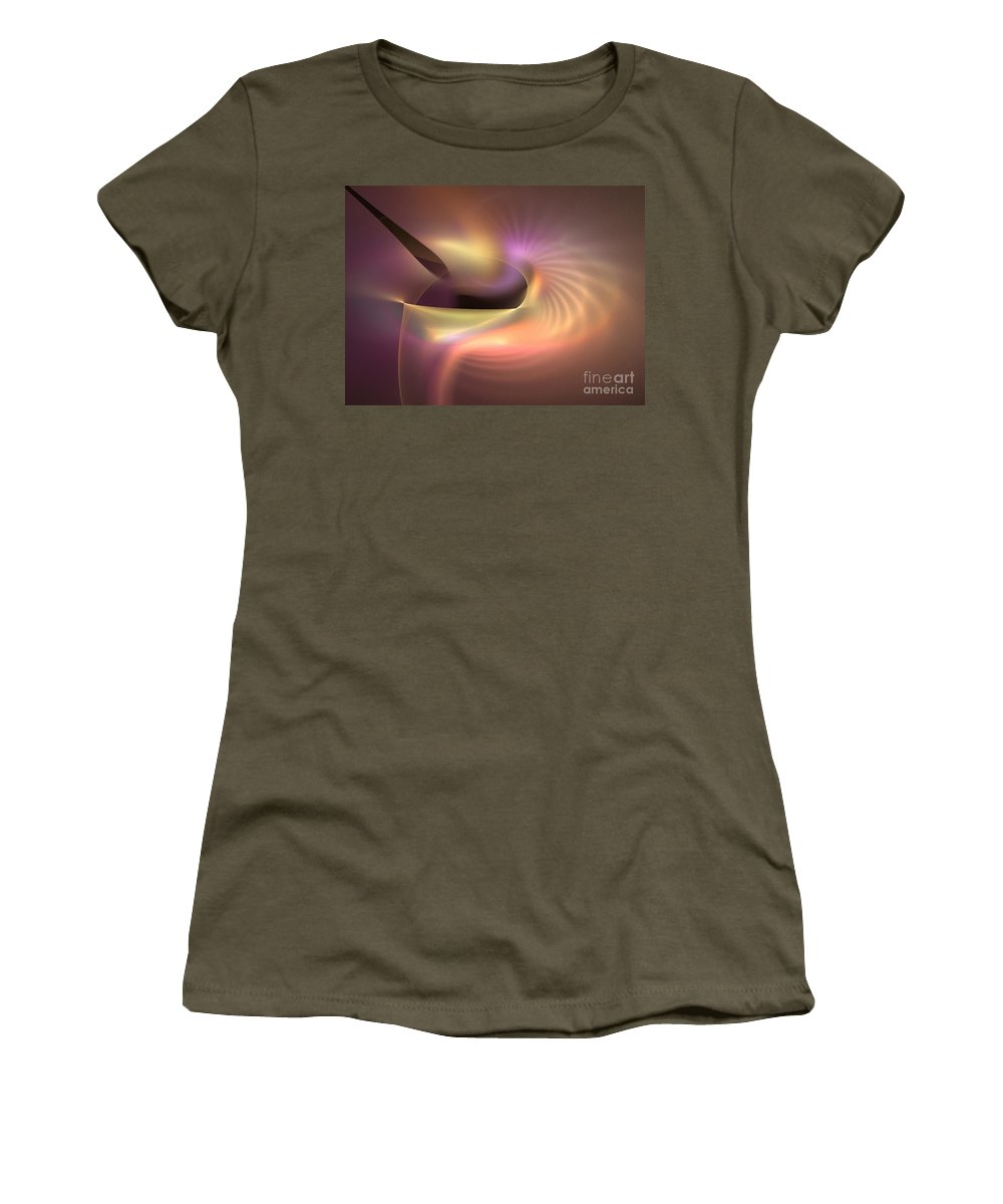 Apophysis Women's T-Shirt featuring the digital art Refraction by Kim Sy Ok