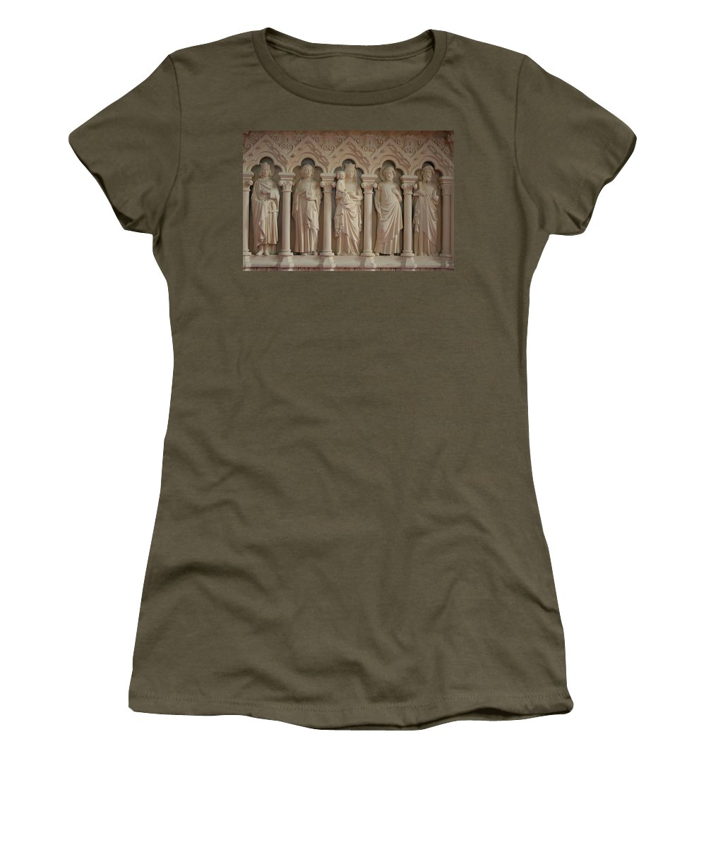 Relief Women's T-Shirt (Athletic Fit) featuring the photograph Religious Relief by Christiane Schulze Art And Photography