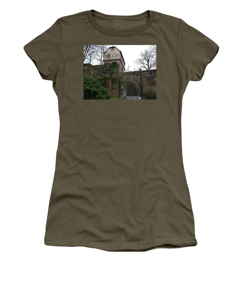 Castle Women's T-Shirt featuring the photograph Remember The Ancients by Louis Yamonico