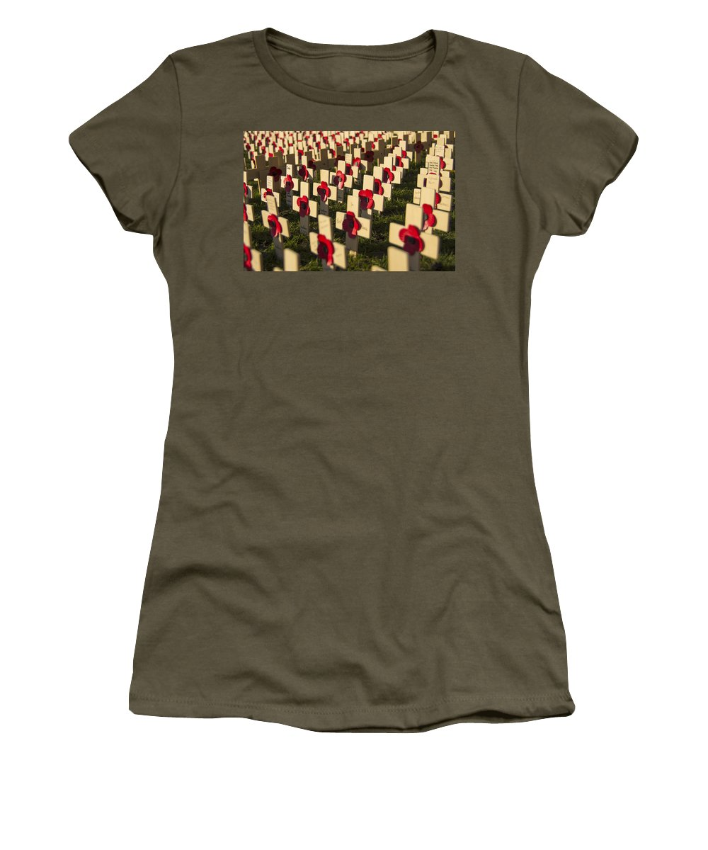 Cross Women's T-Shirt featuring the photograph Rememberance by Ross G Strachan
