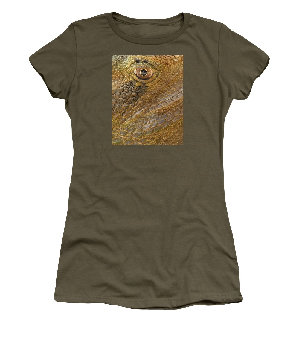 Reptile Women's T-Shirt featuring the photograph Reptile Skin Pattern by Dreamland Media