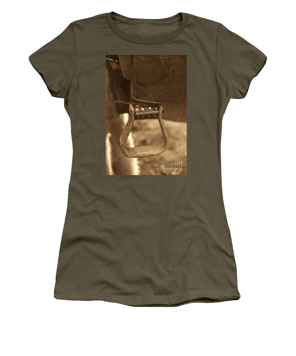 Horse Women's T-Shirt (Athletic Fit) featuring the photograph Ride On by Brandi Maher