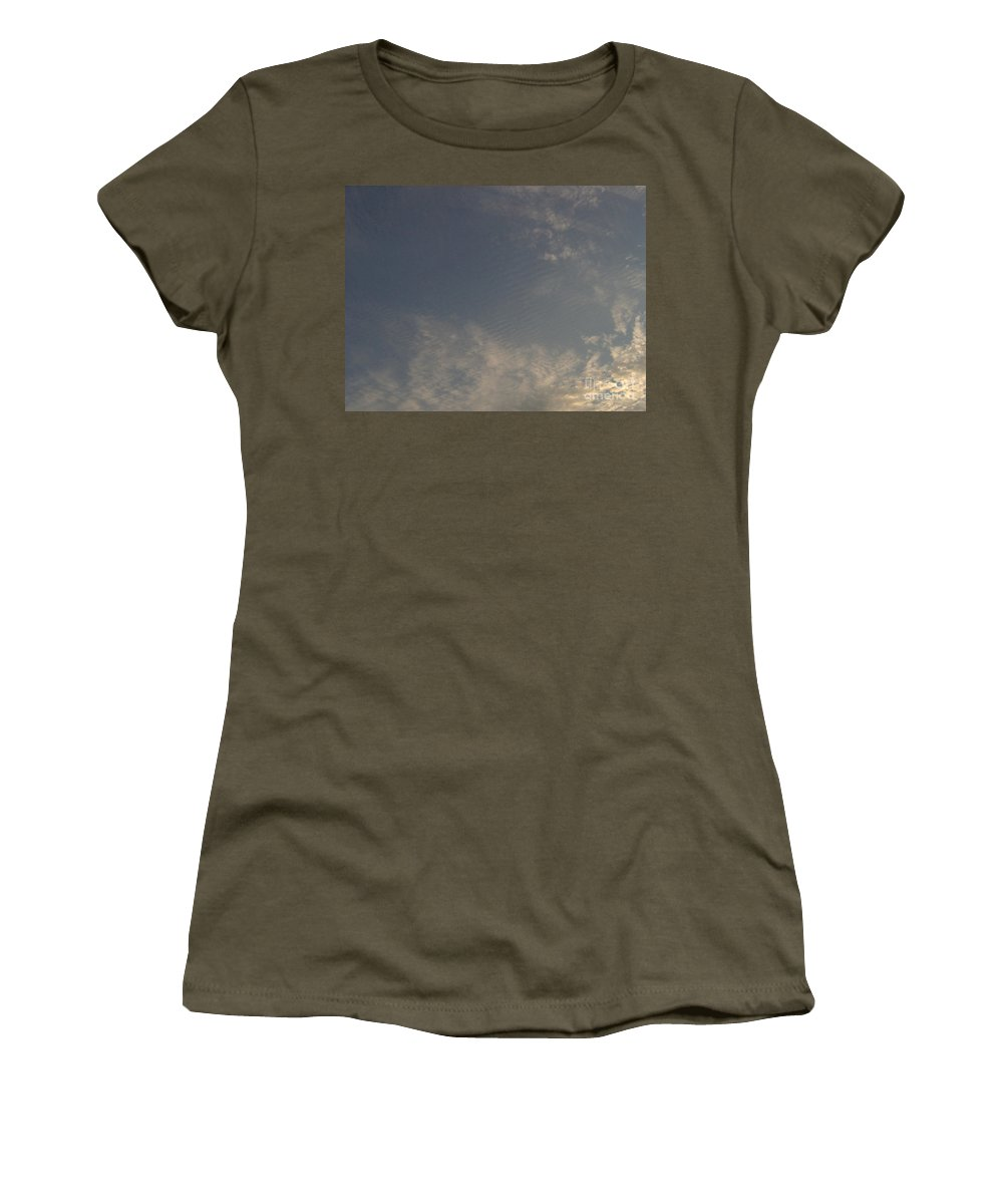 Clouds Women's T-Shirt featuring the photograph Ripples In The Sky by D Hackett