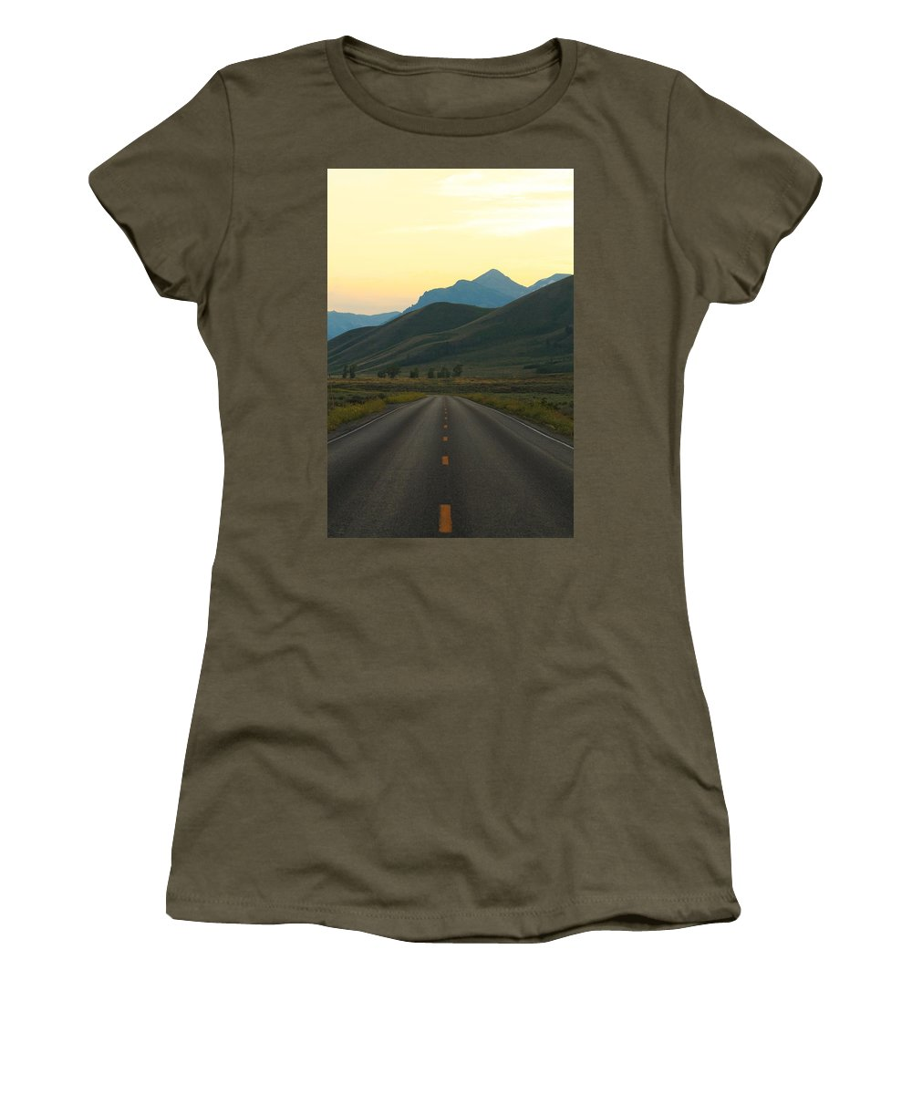 Jackson Hole Women's T-Shirt featuring the photograph Road Less Traveled by Catie Canetti