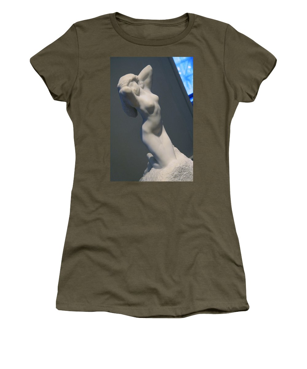 Morning Women's T-Shirt featuring the photograph Rodin's Morning by Cora Wandel
