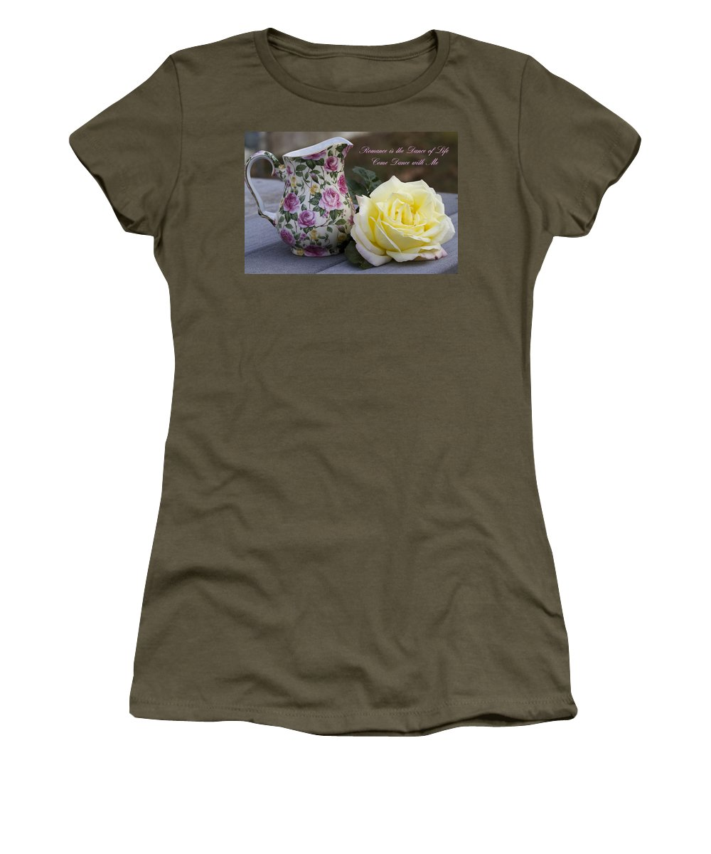 Romance Women's T-Shirt featuring the photograph Romance Is The Dance Of Life by Kathy Clark