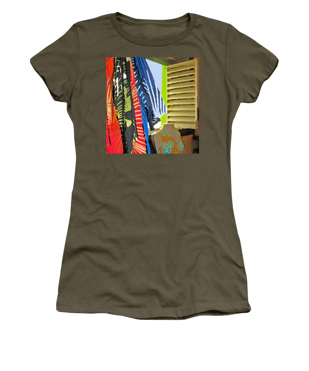 Romney Women's T-Shirt (Athletic Fit) featuring the photograph Romney Window by Ian MacDonald