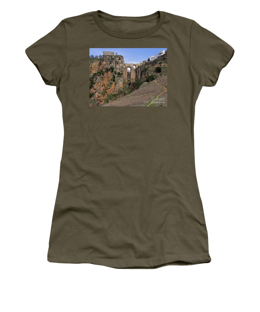 Ronda Spain Women's T-Shirt featuring the photograph Ronda Spain by Suzanne Oesterling