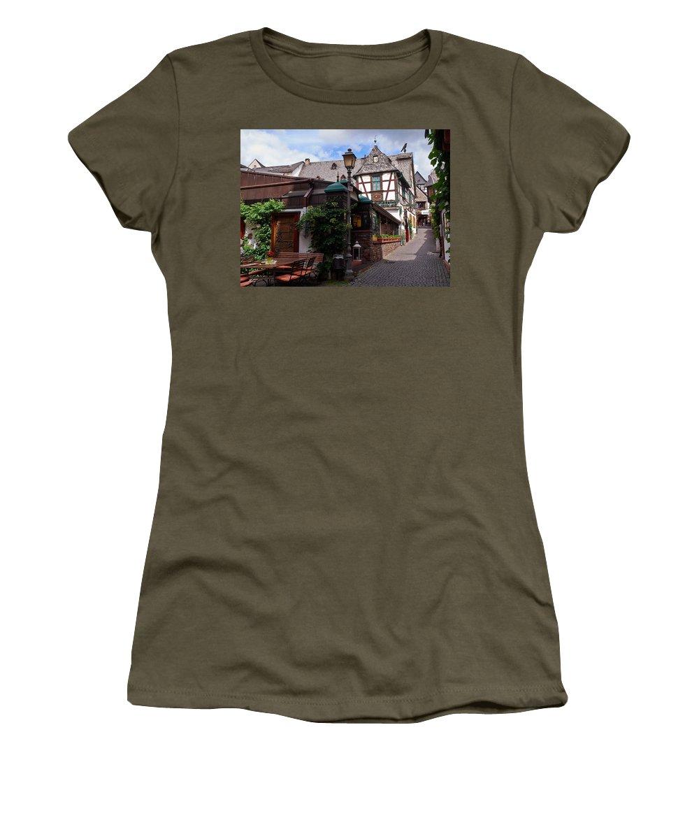 Alankomaat Women's T-Shirt featuring the photograph Rudesheim by Jouko Lehto