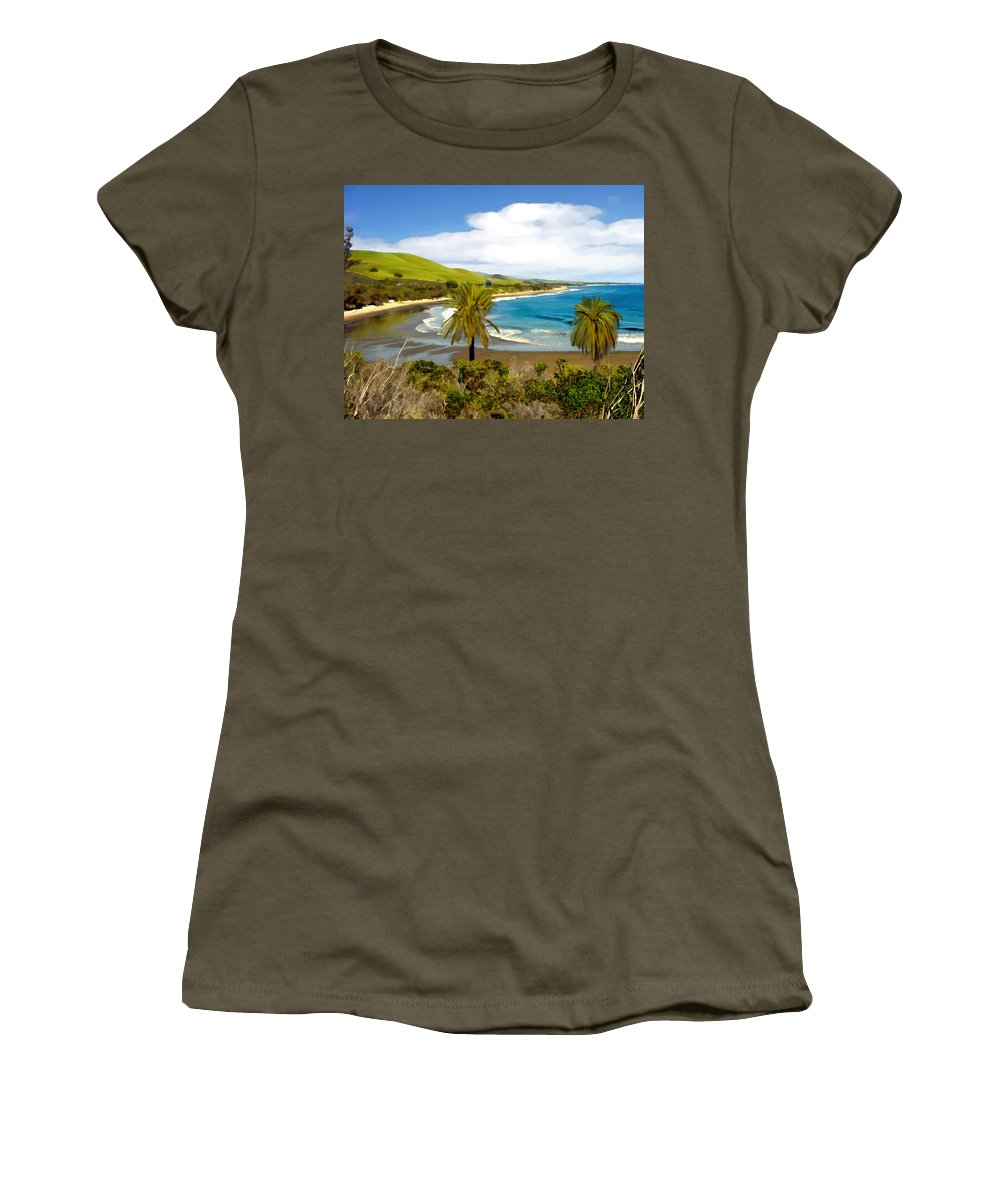 Ocean Women's T-Shirt (Athletic Fit) featuring the photograph Rufugio by Kurt Van Wagner