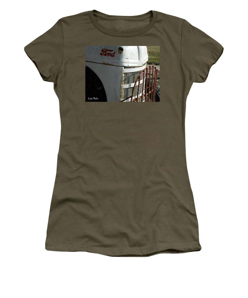 Tractor Women's T-Shirt featuring the photograph Rustic Ford Work Horse by George Pedro