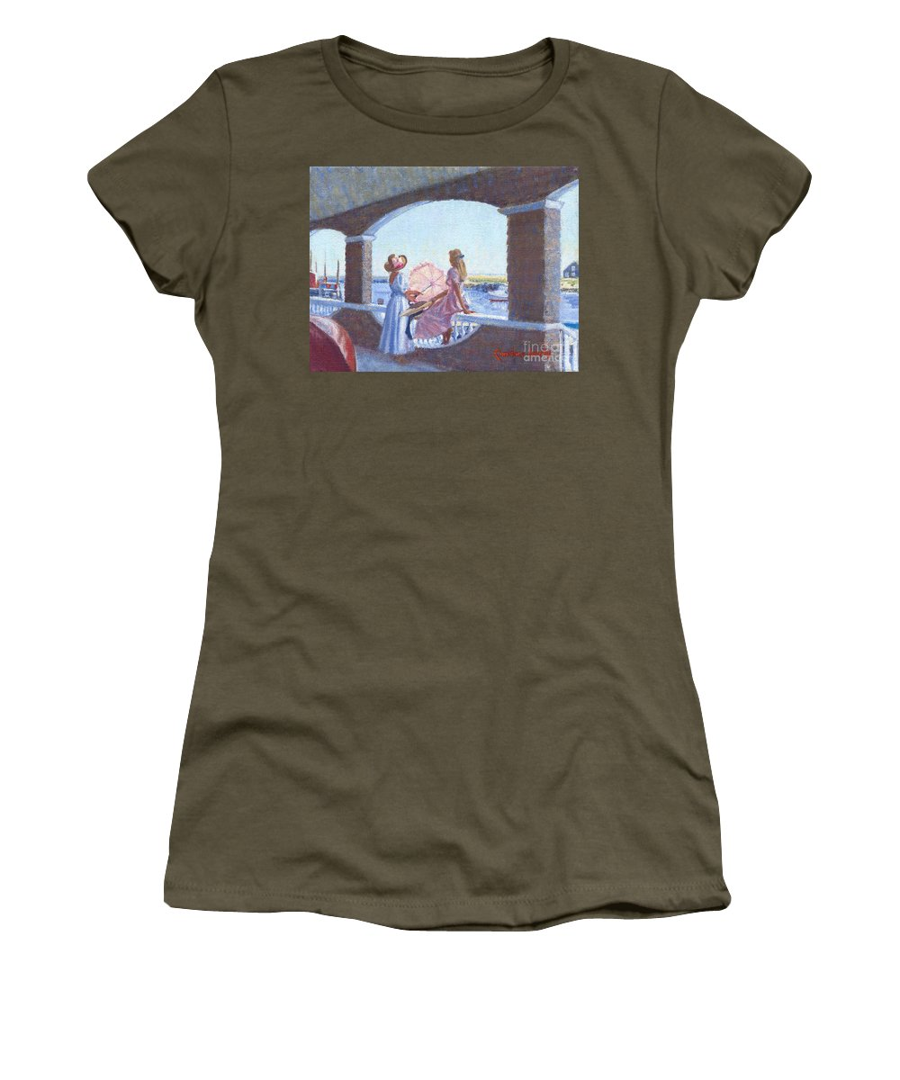 Women Women's T-Shirt featuring the painting Sailor's Watch by Candace Lovely