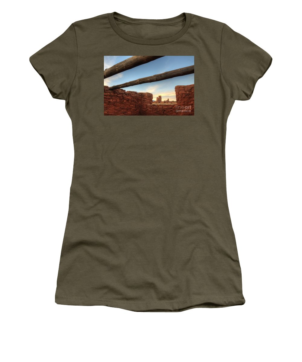 Salinas Pueblo Mission Ruins Women's T-Shirt featuring the photograph Salinas Pueblo Mission Abo Ruin 2 by Bob Christopher