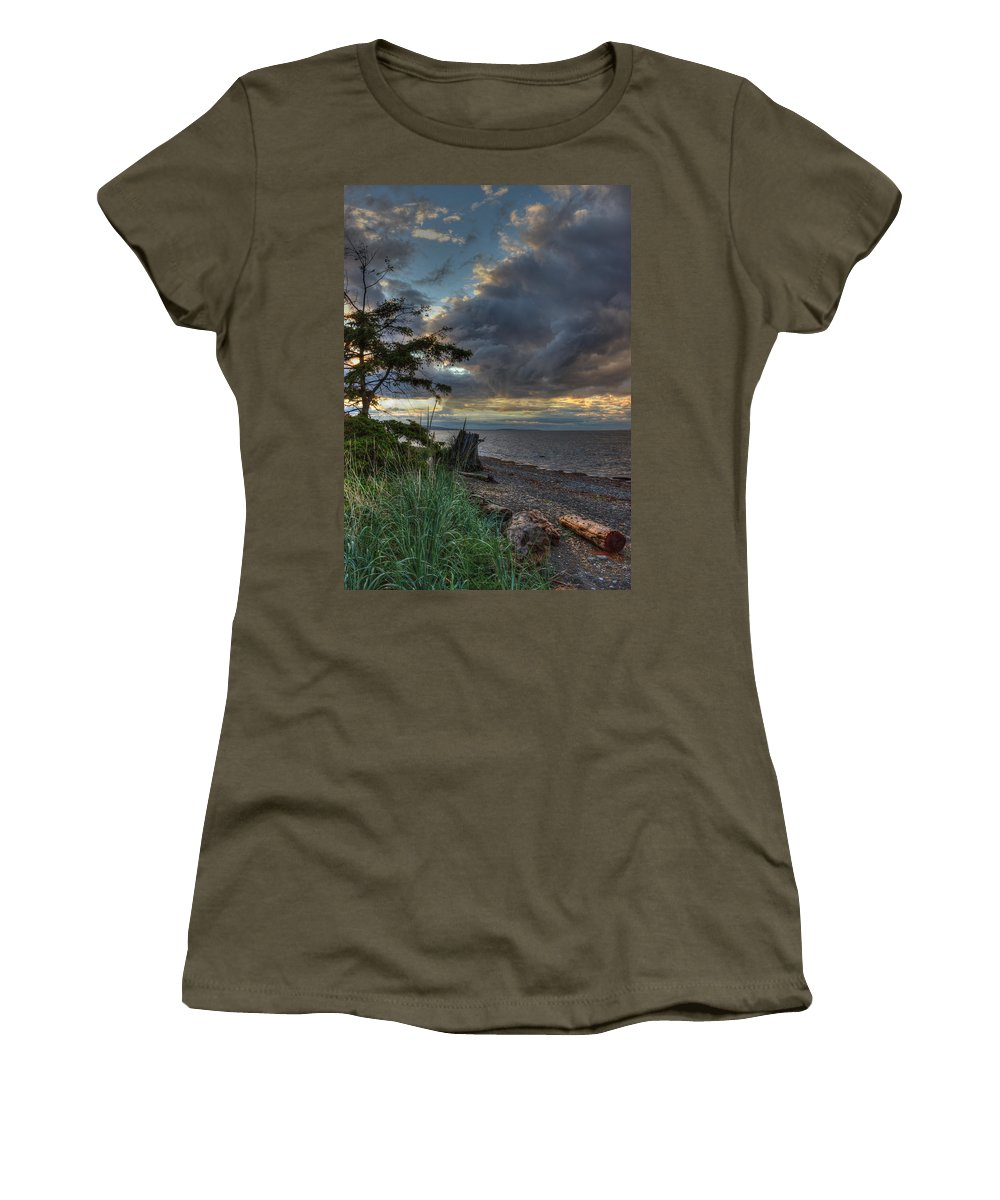 Water Women's T-Shirt featuring the photograph Salish Storm by Randy Hall