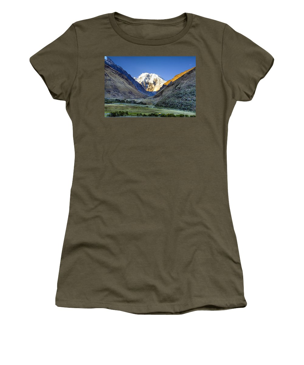 Mountains Women's T-Shirt featuring the photograph Savage Mountain by Alexey Stiop