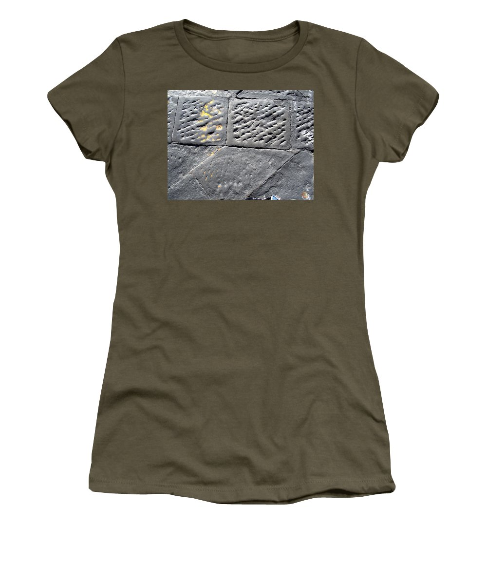 Screwed Women's T-Shirt featuring the photograph Screwed Between Stones Of Firenze by Marcello Cicchini