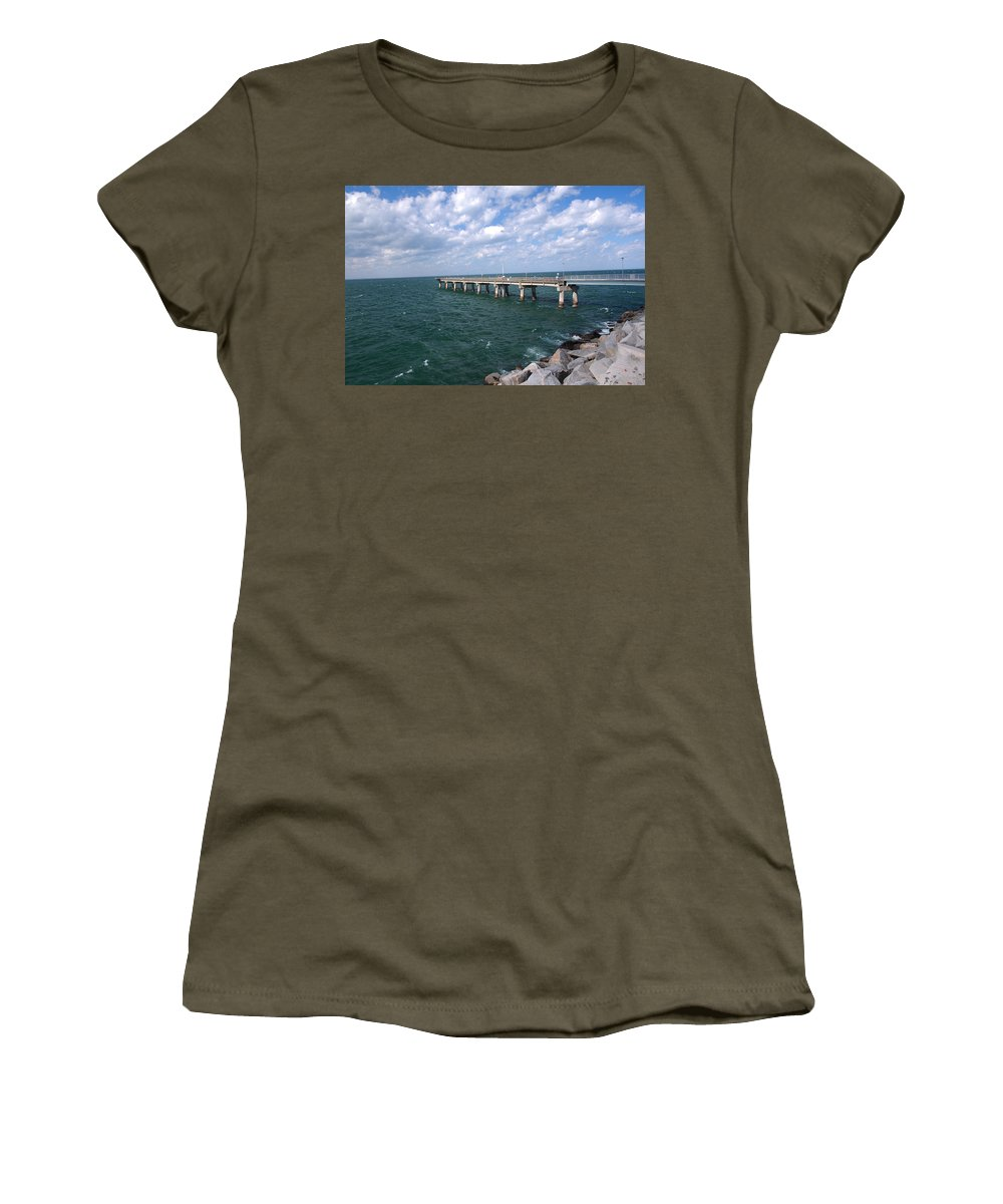 Sea Women's T-Shirt featuring the photograph Seascape by George Fredericks