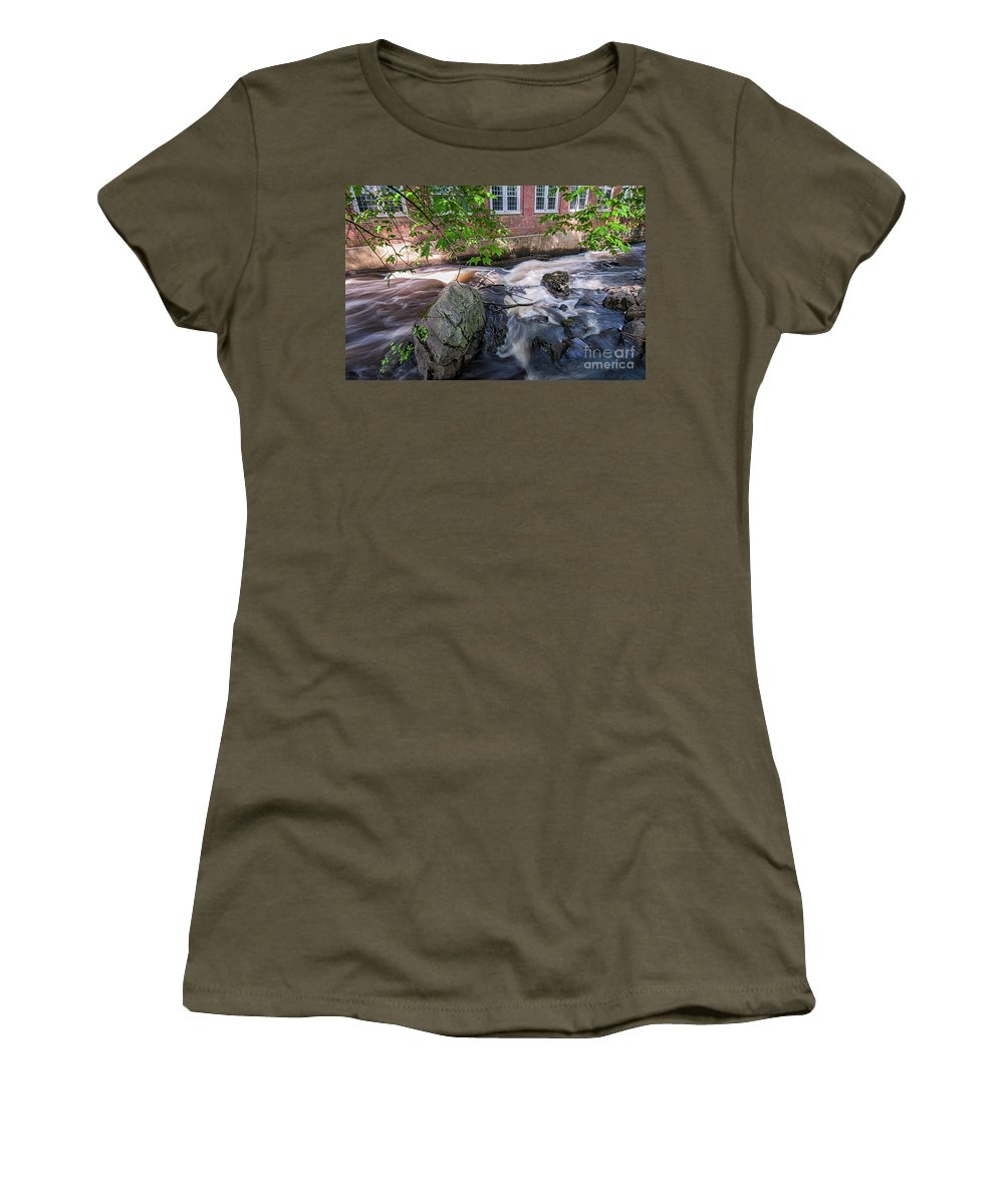 Waterfalls Women's T-Shirt featuring the photograph Secluded Falls #2 by Scott Thorp