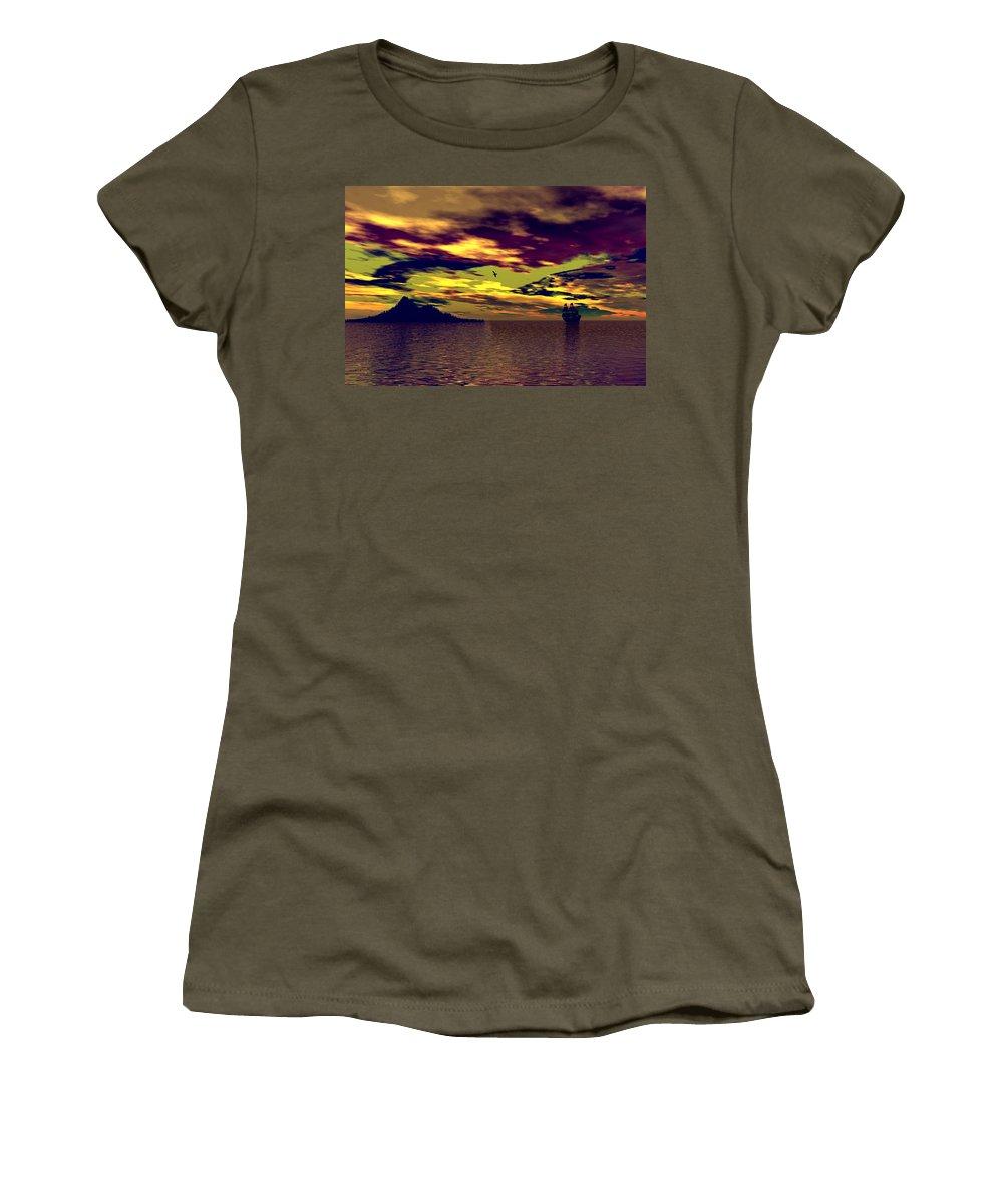 Landscape Women's T-Shirt featuring the photograph Secret Island by Mark Blauhoefer