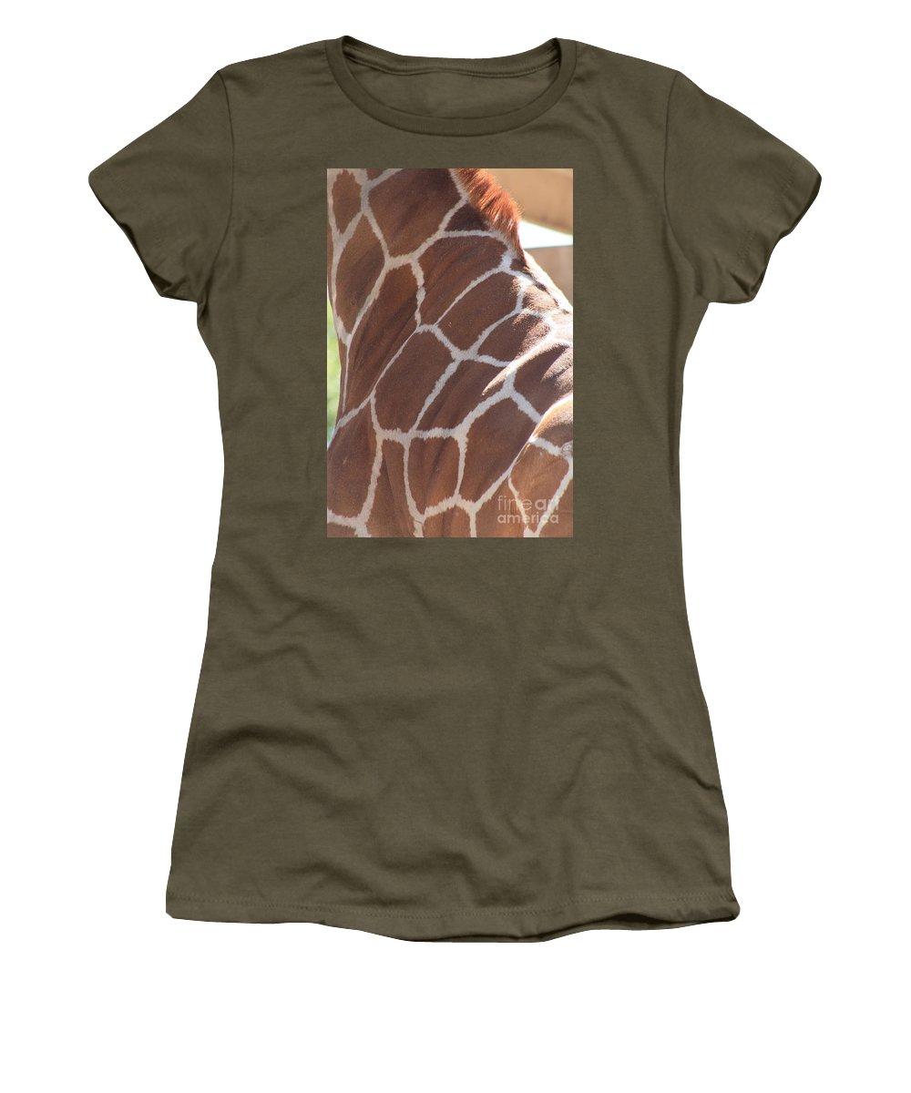 Giraffe Women's T-Shirt featuring the photograph Seeing Spots by Brandi Maher