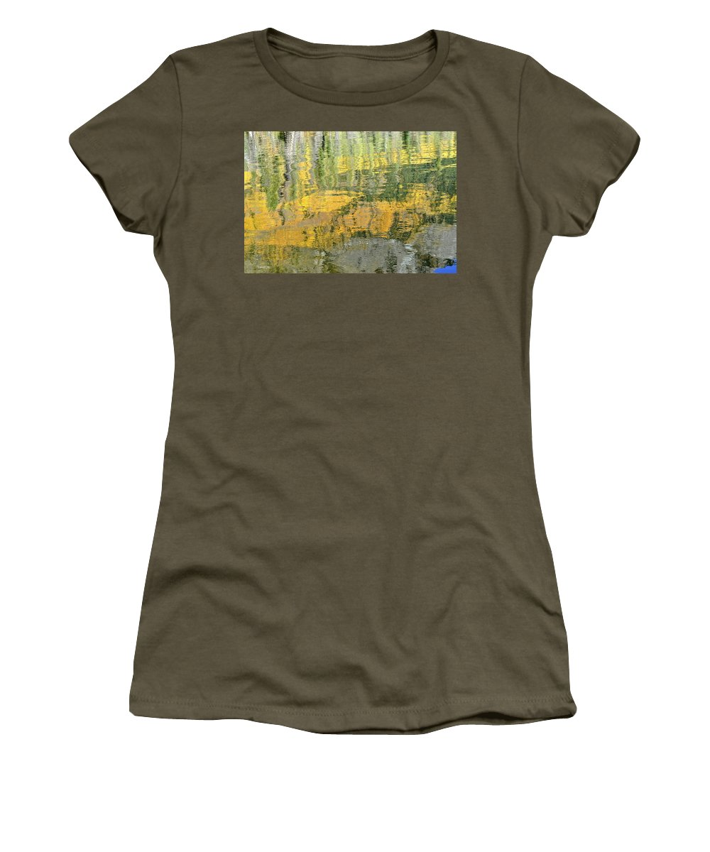 Autumn Women's T-Shirt featuring the photograph September Reflection by Cathy Mahnke