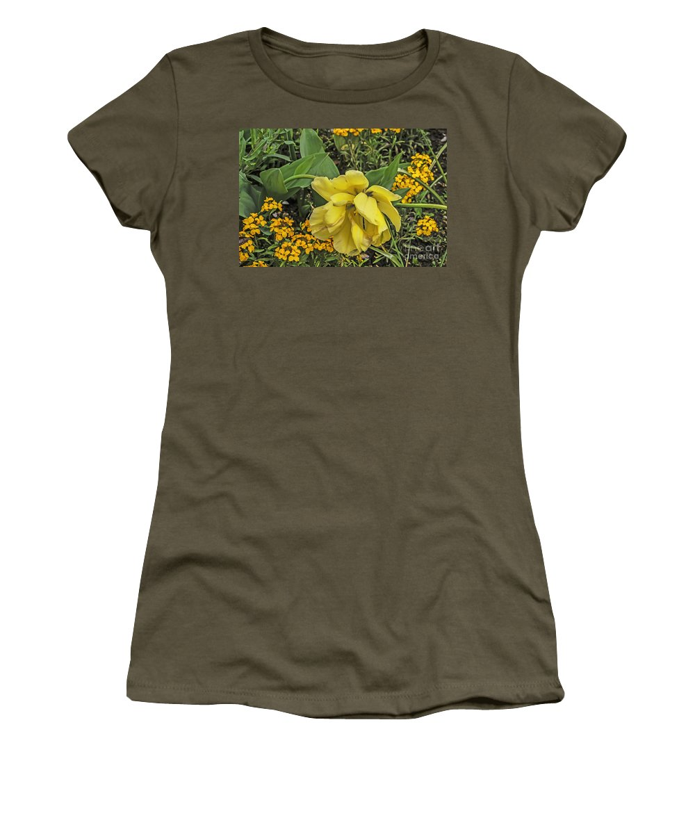Travel Women's T-Shirt (Athletic Fit) featuring the photograph Shades Of Yellow by Elvis Vaughn