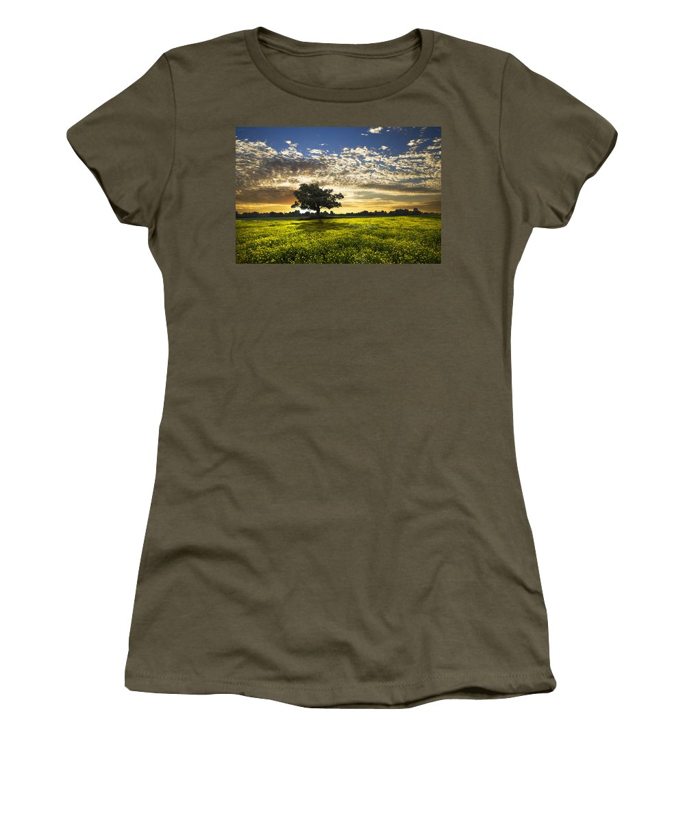 Barn Women's T-Shirt featuring the photograph Shadows by Debra and Dave Vanderlaan