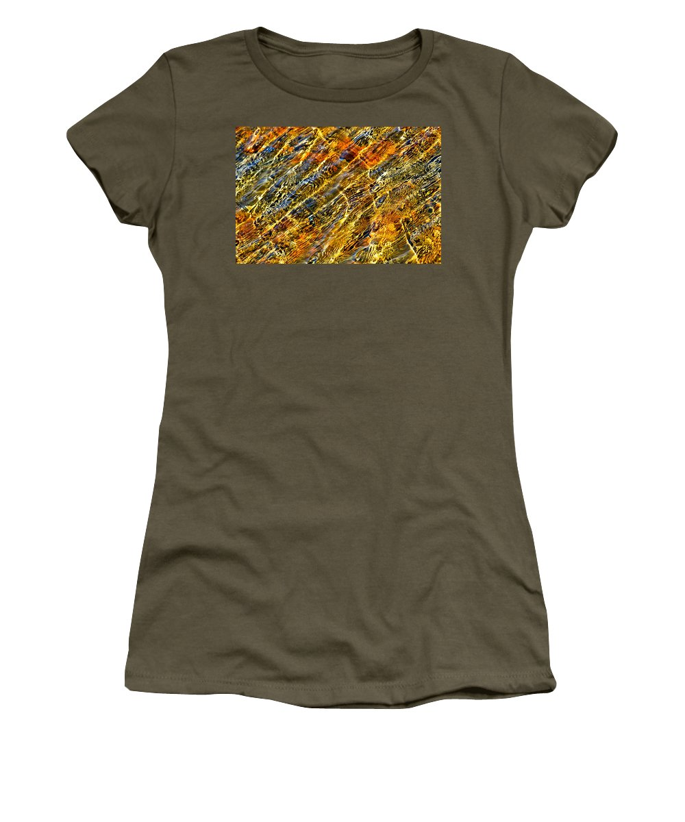 Water Women's T-Shirt featuring the photograph Shimmerings by Marie Jamieson
