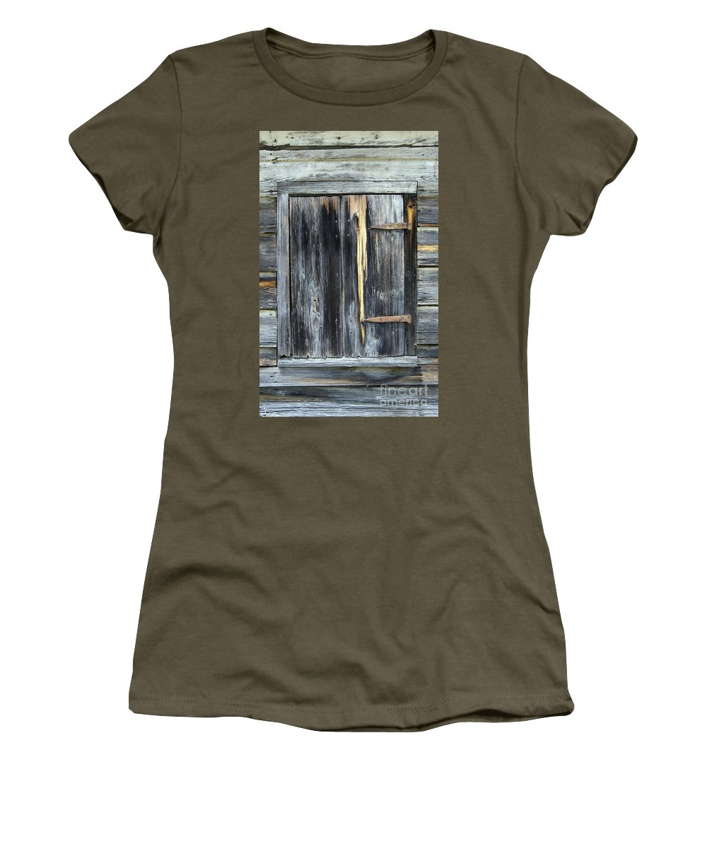 Scenic Tours Women's T-Shirt featuring the photograph Shut by Skip Willits