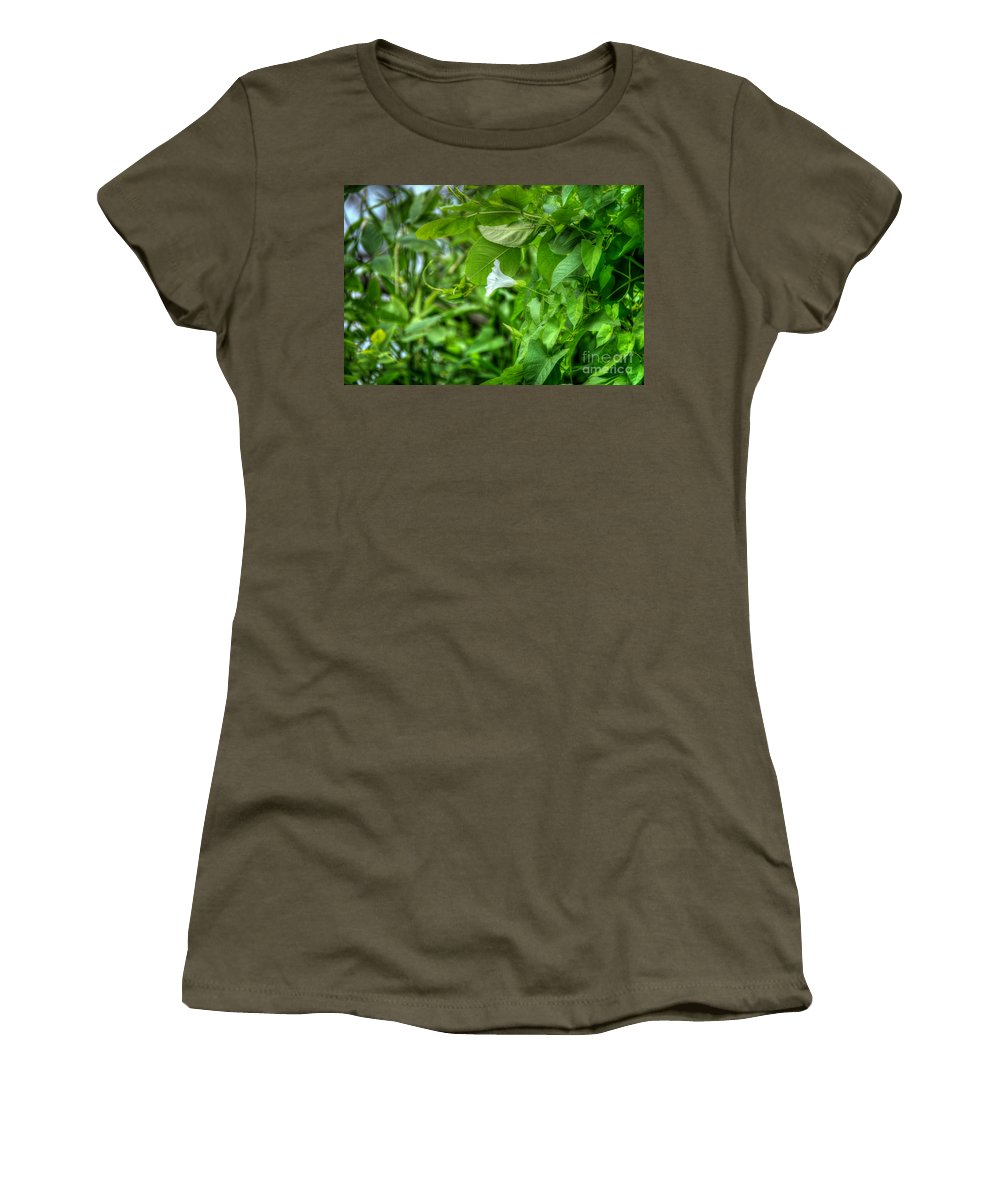 Flower Women's T-Shirt featuring the photograph Single Trumpet by M Dale