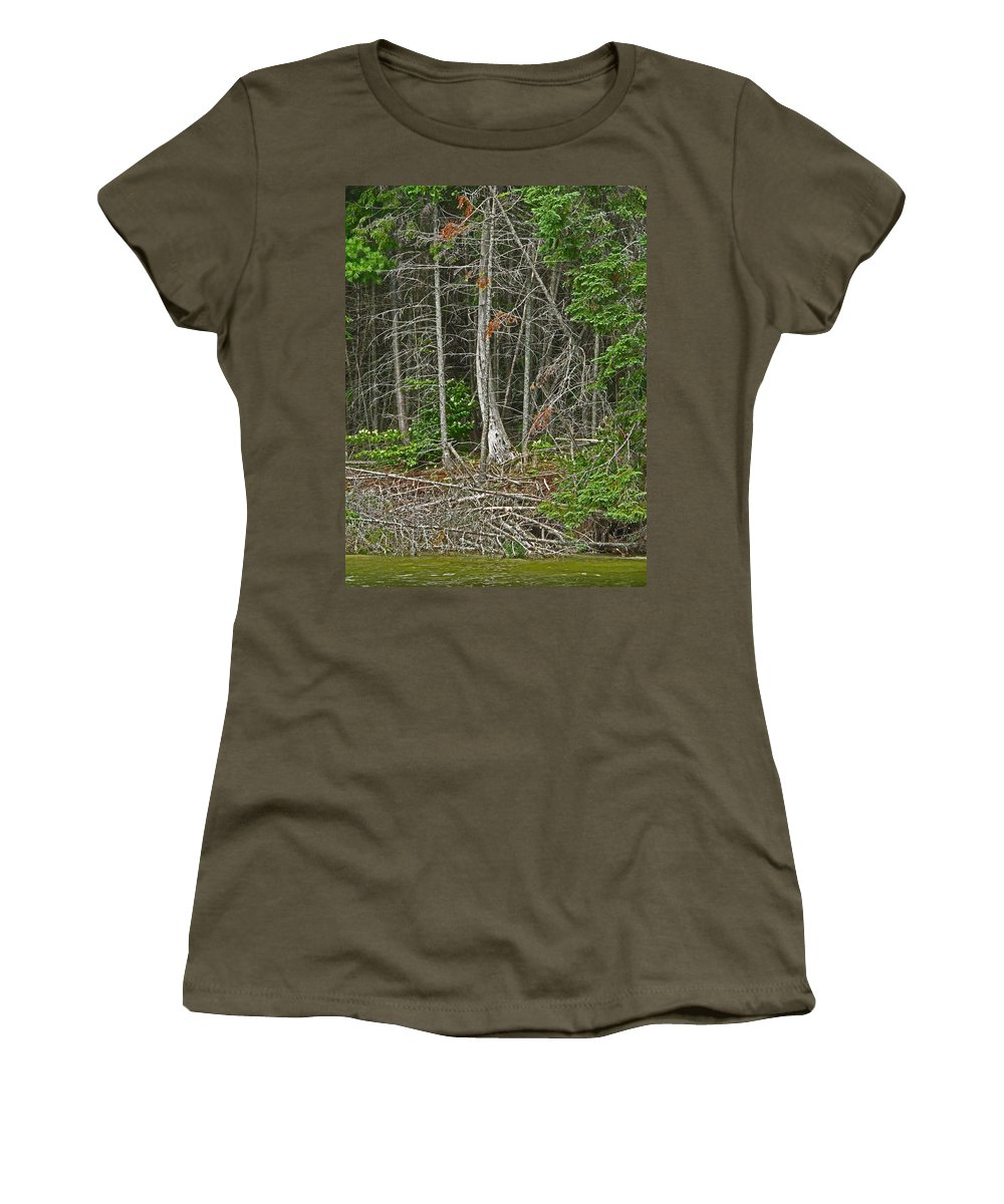 Northern Women's T-Shirt (Athletic Fit) featuring the photograph Skeleton by Ian MacDonald