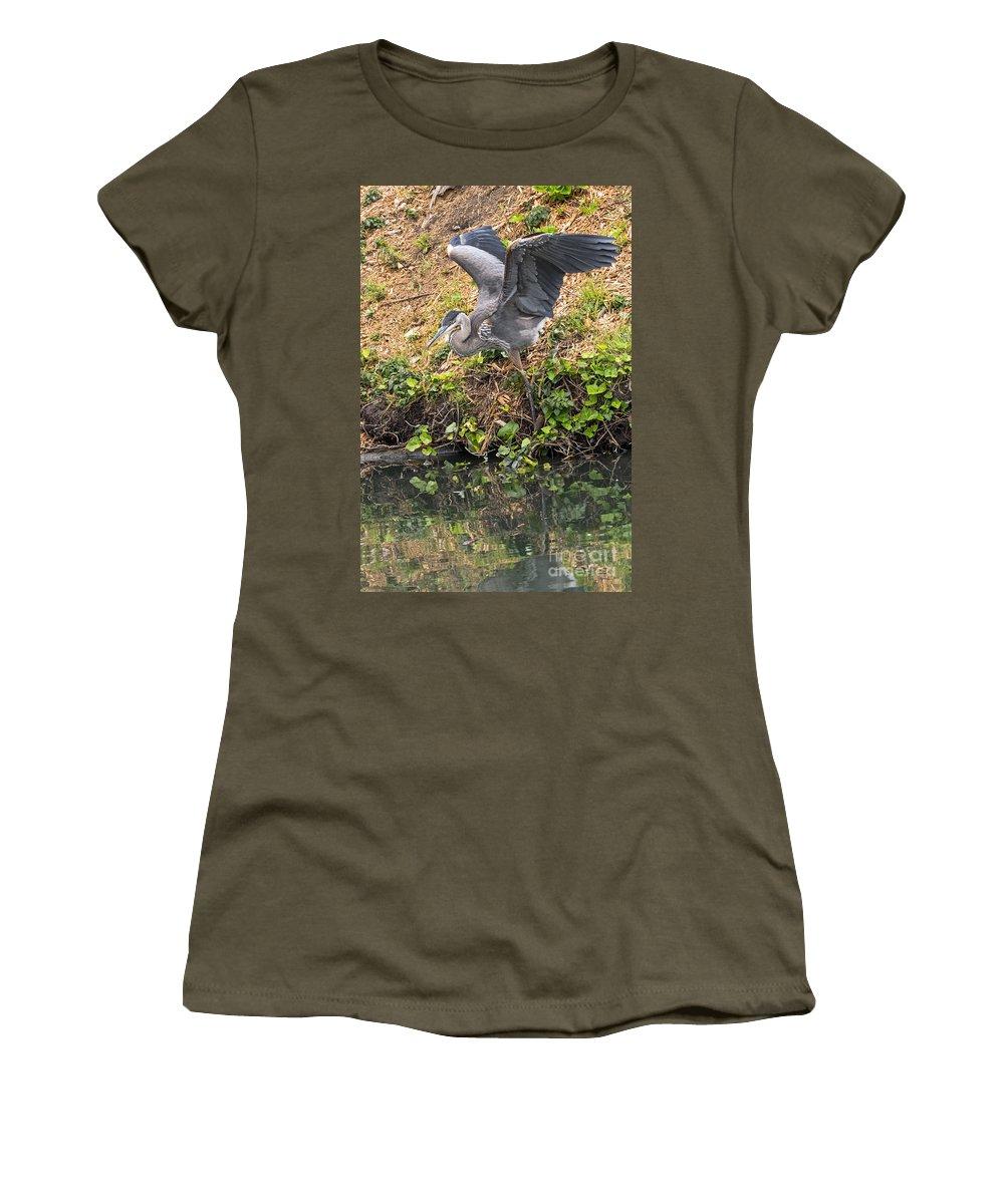 Bird Women's T-Shirt featuring the photograph Slip Sliding by Kate Brown