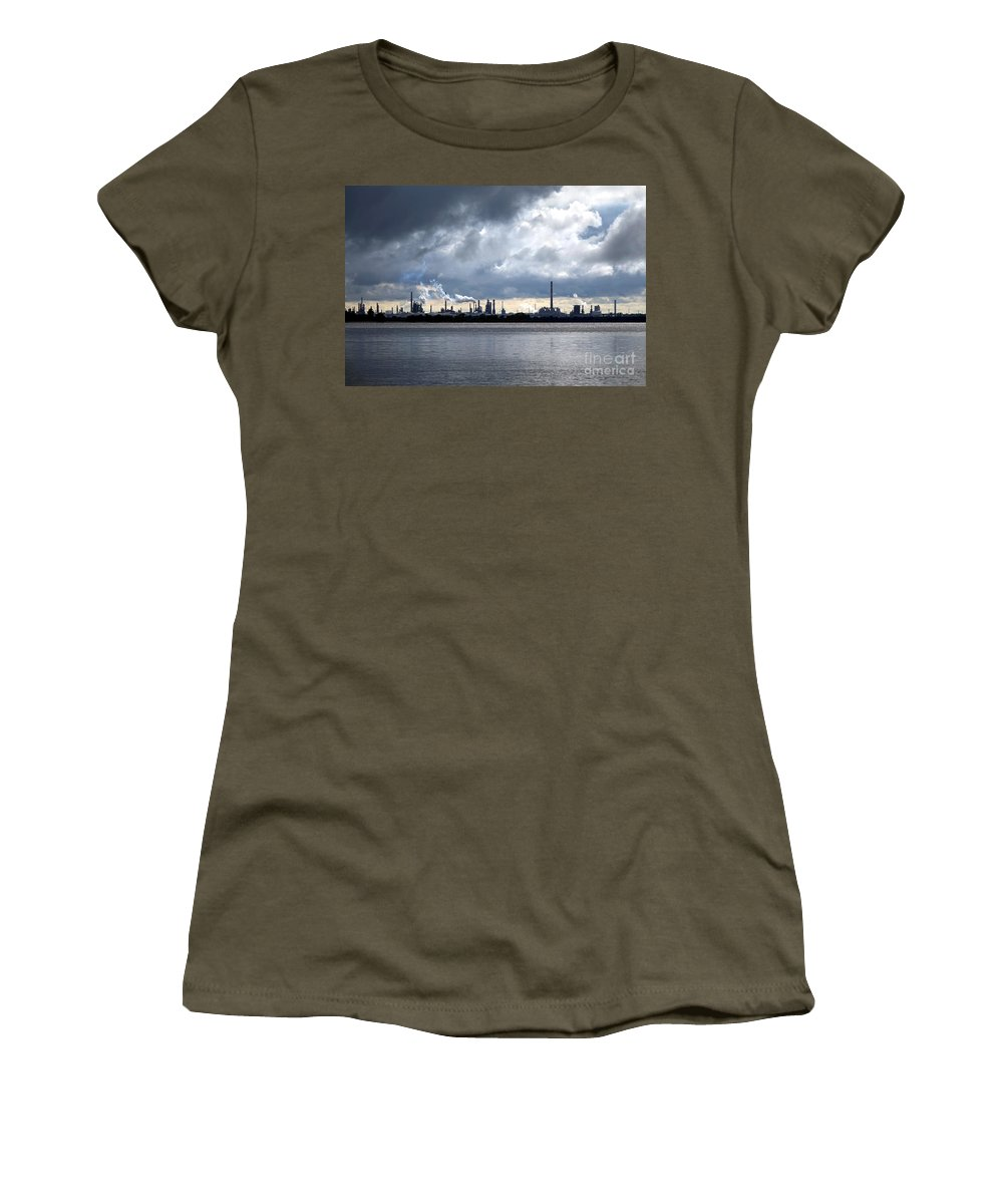 Crude Women's T-Shirt featuring the photograph Smokes by Olivier Le Queinec