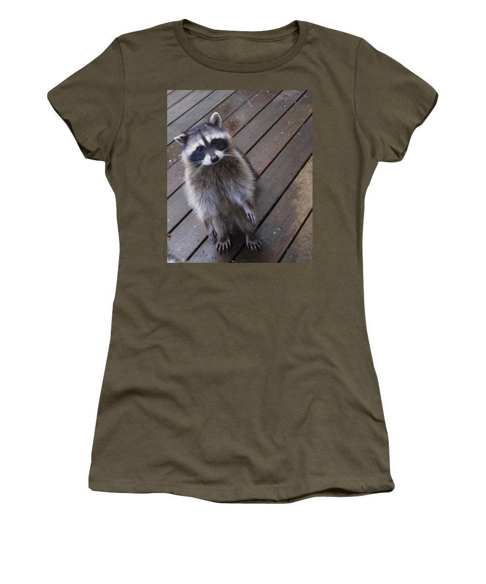 Kym Backland Women's T-Shirt (Athletic Fit) featuring the photograph So I Put My Left Foot In First by Kym Backland