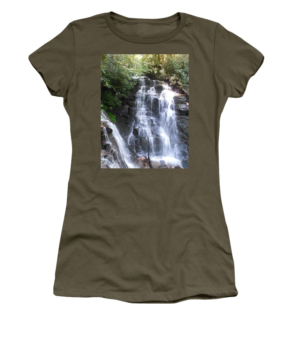 Plant Women's T-Shirt featuring the photograph Soco Falls by Mike Niday
