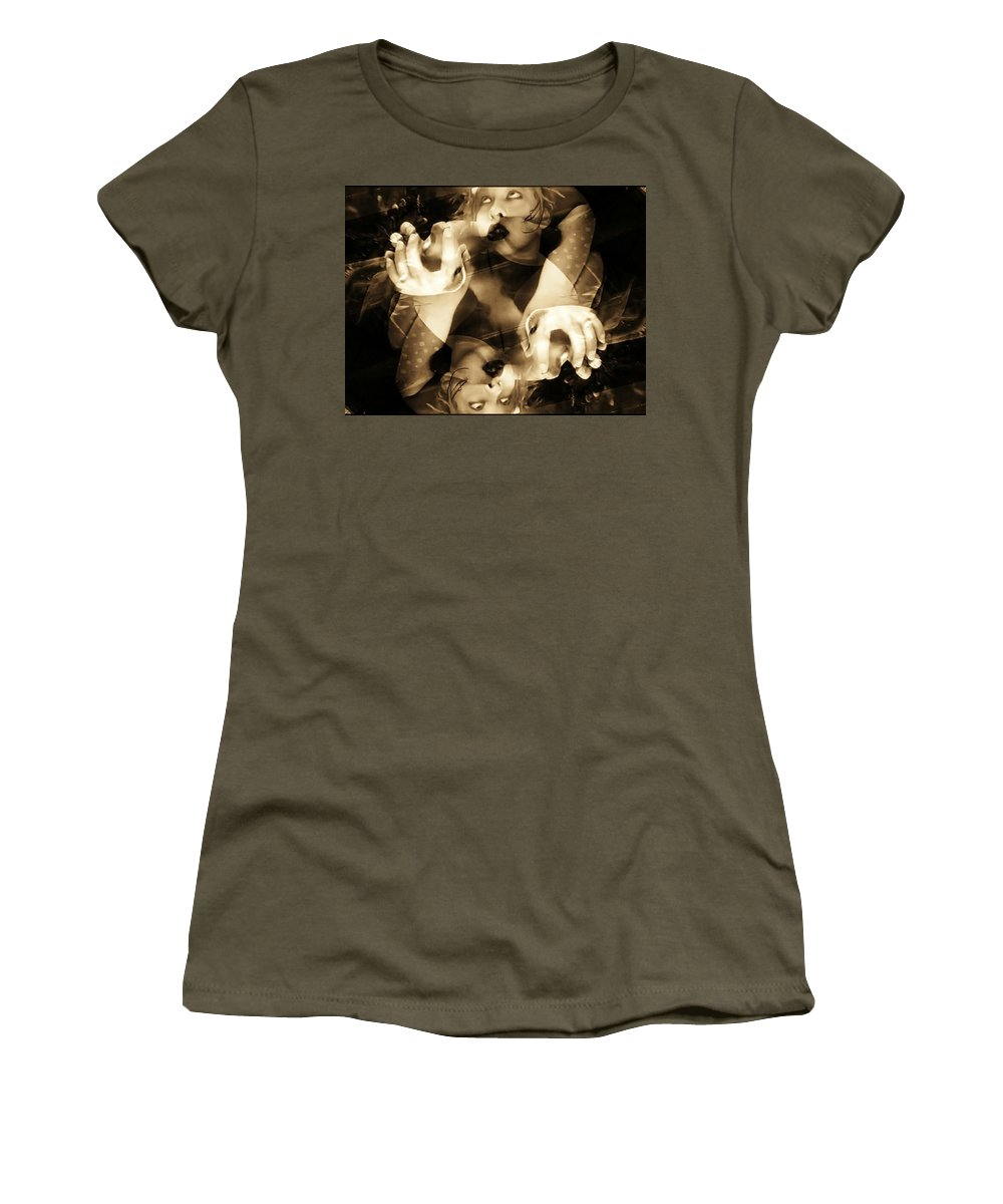 Sepia Women's T-Shirt featuring the photograph Someplace by Jessica Shelton