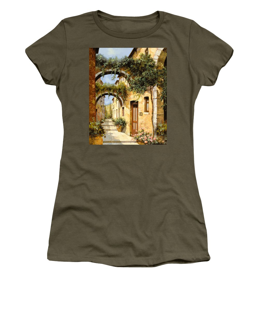 Arch Women's T-Shirt featuring the painting Sotto Gli Archi by Guido Borelli