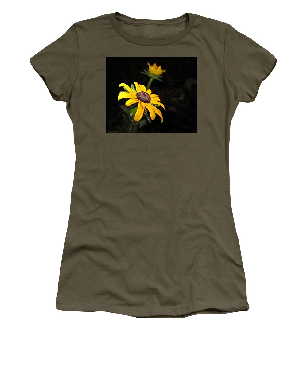 Spider Women's T-Shirt featuring the photograph Spider On Rudbeckia by MTBobbins Photography