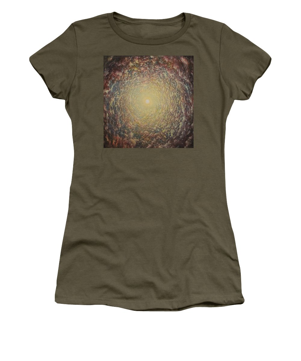 Sun Women's T-Shirt featuring the painting Spirit Circle by Karma Moffett