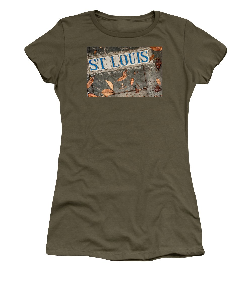 Street Women's T-Shirt featuring the photograph St Louis Street Tiles In New Orleans by Kathleen K Parker