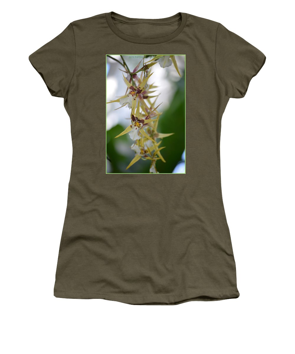 Anniversary Flower Women's T-Shirt featuring the photograph Star Orchids by Sonali Gangane