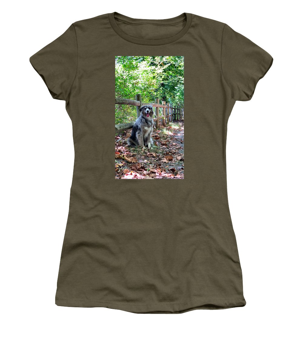 Aussie Women's T-Shirt featuring the photograph Stay Aussie by Art Dingo