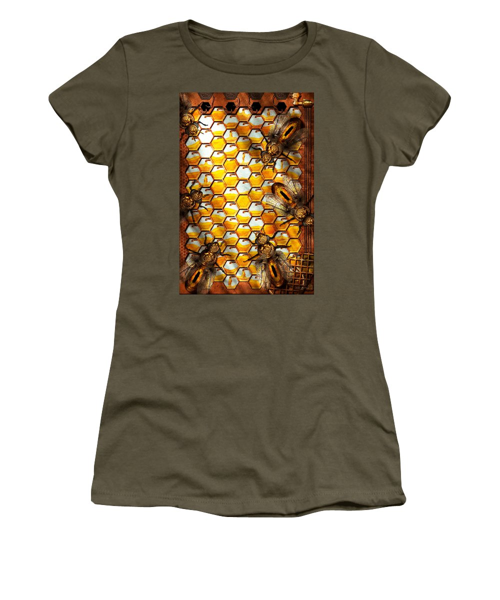 Self Women's T-Shirt featuring the photograph Steampunk - Apiary - The Hive by Mike Savad