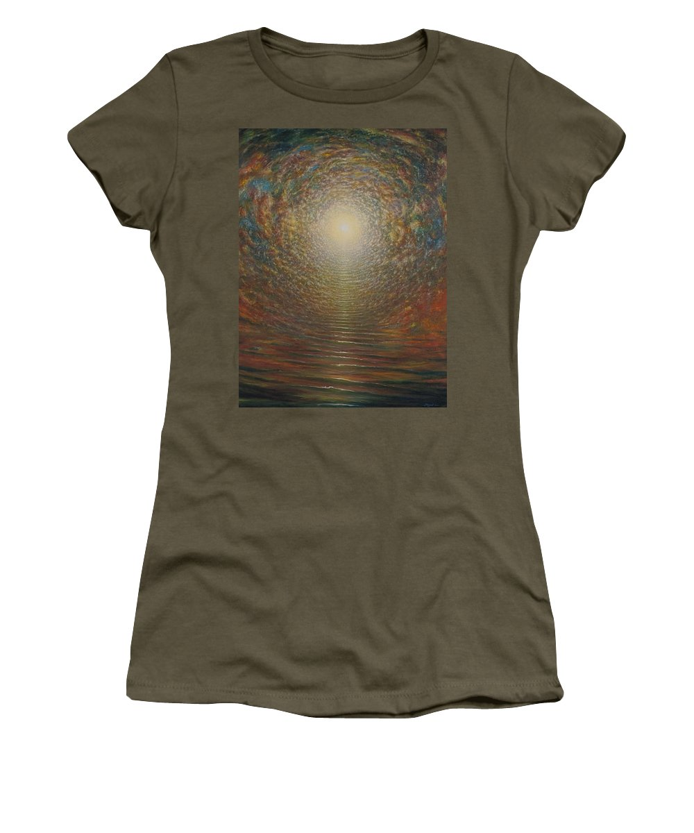 Sun Women's T-Shirt featuring the painting Steps by Karma Moffett