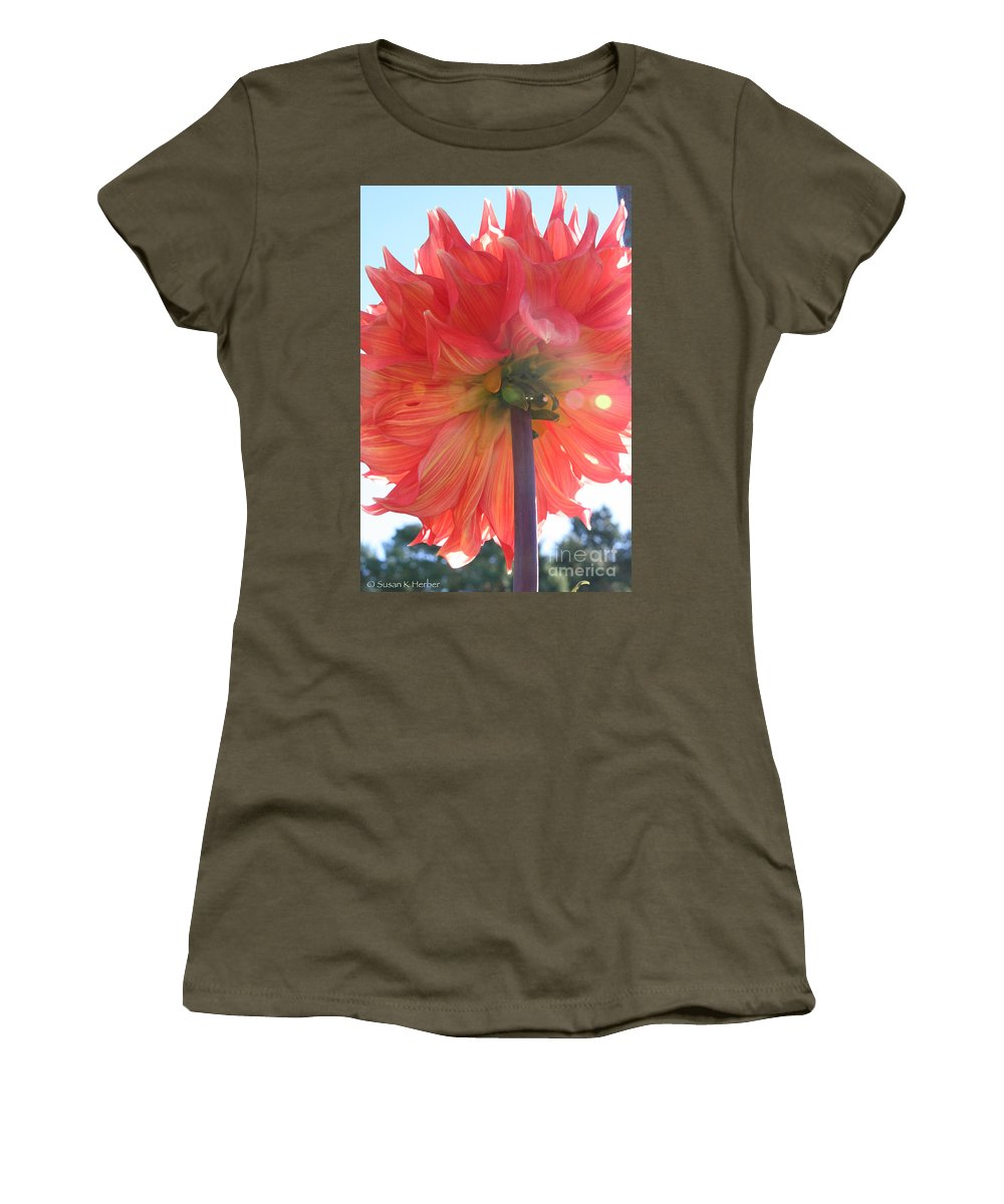 Flower Women's T-Shirt featuring the photograph Stolen Glory by Susan Herber