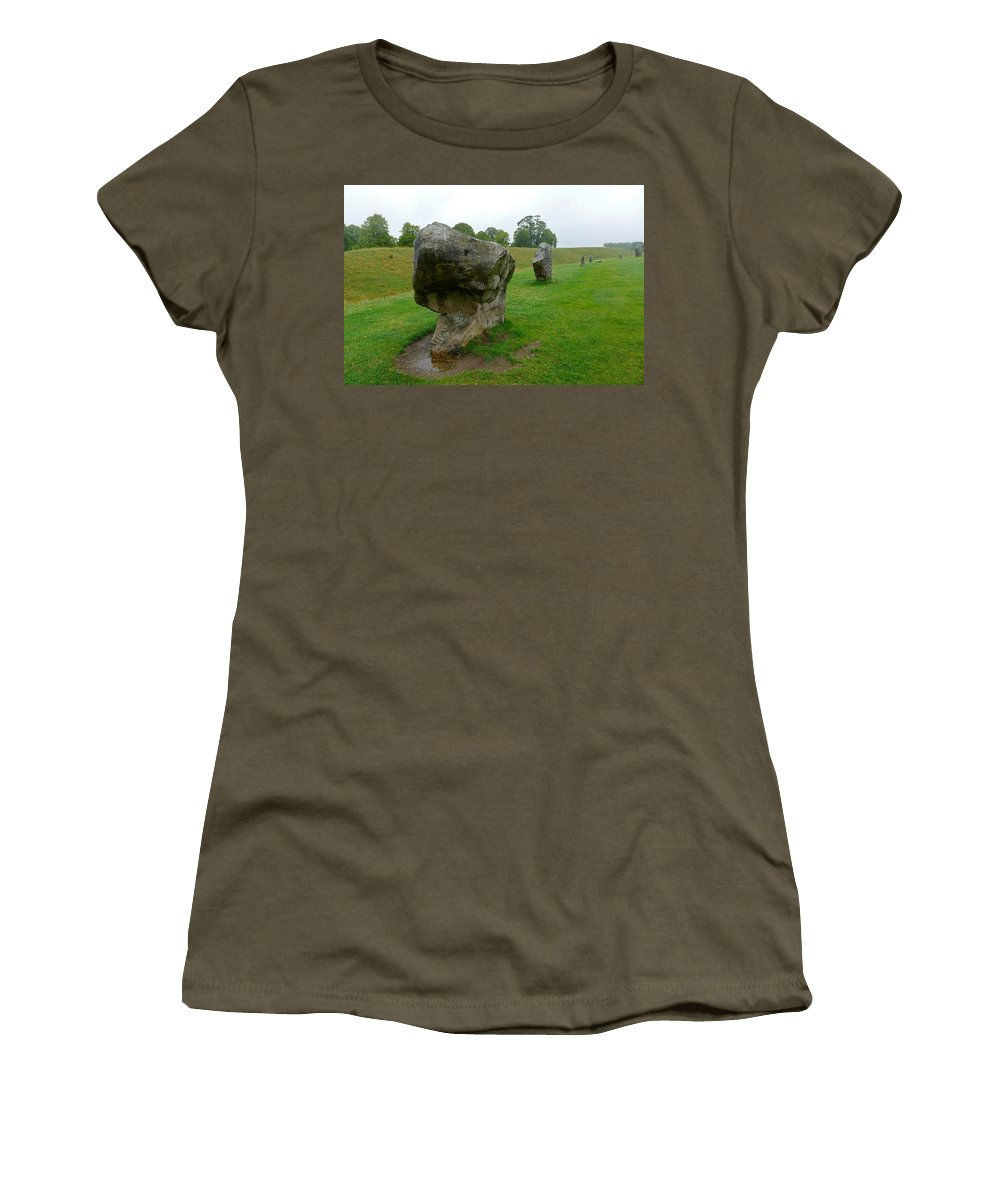 Avebury Women's T-Shirt featuring the photograph Stone At Avebury by Denise Mazzocco