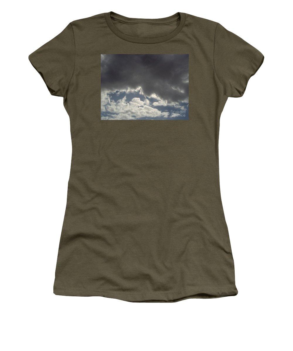 Clouds Women's T-Shirt featuring the photograph Storm Cloud Overhead by D Hackett